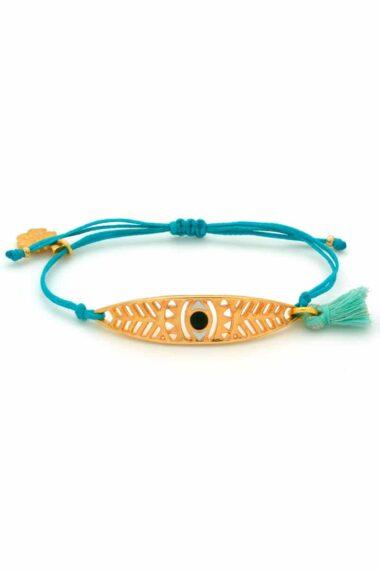 light-blue bracelet with leaf