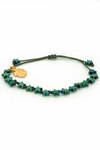 bracelet with green stars