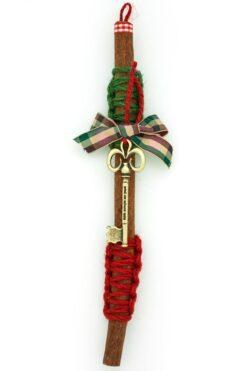 Christmas charm with cinnamon & key