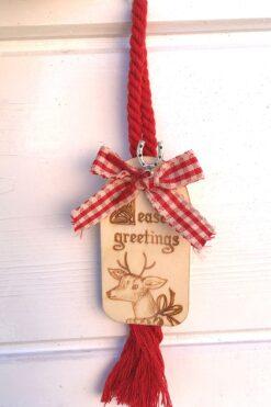 Seasons' Greetings charm