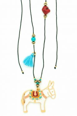 necklace with white donkey