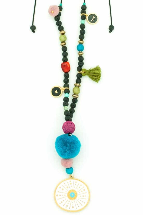 white sea urchin long necklace