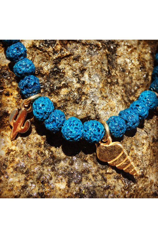 summer bracelet with lava stones