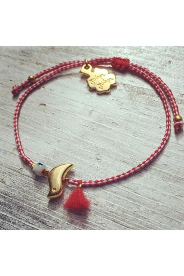 bracelet for March with small bird