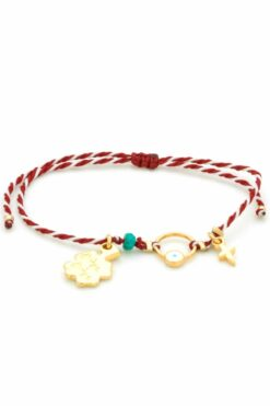 march bracelet with ring and small cross
