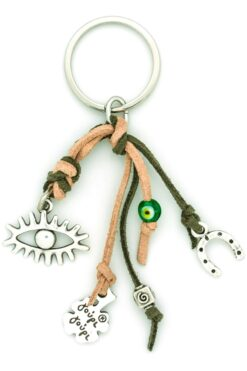 keychain with evil eye