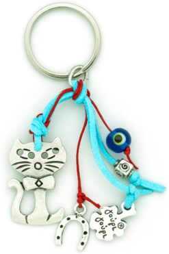 keychain with cat