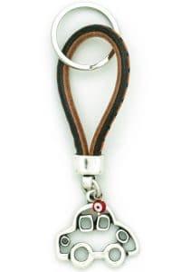 leather keyring for car keys