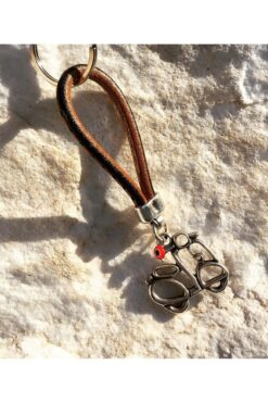 leather keychain for motorbikes