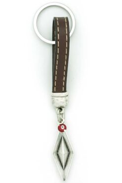 leather keyring with boat
