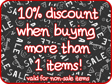 10% discount when buying more than 1 items