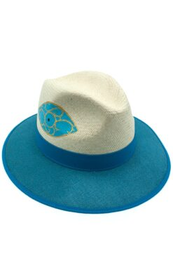 Panama hat with evil eye