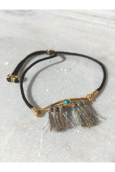 gold-plated evil eye bracelet