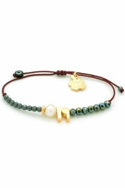 bracelet with pearl & 19