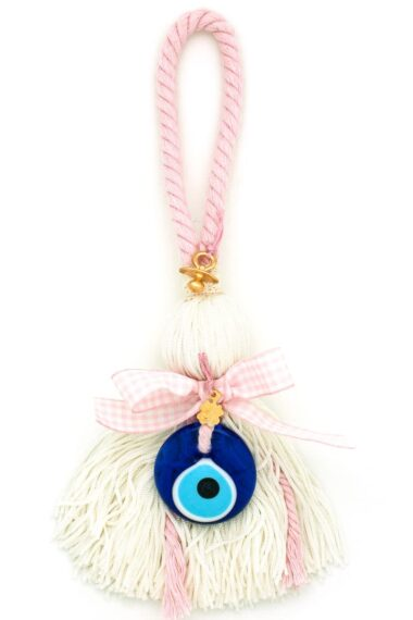 gift for new baby girls with large evil eye