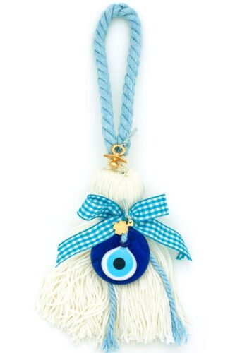 gift for new baby boys with large evil eye