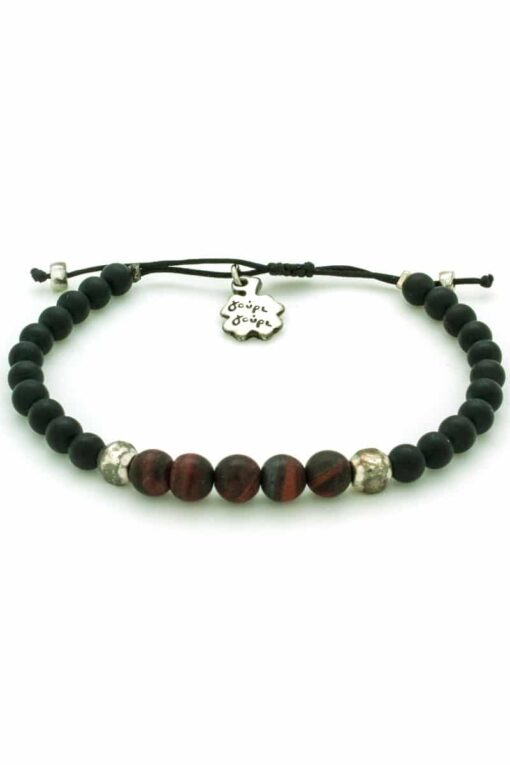 bracelet for men with brown beads