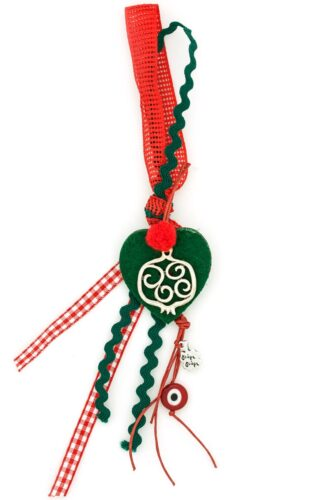 Christmas lucky charm with heart & pomegranate