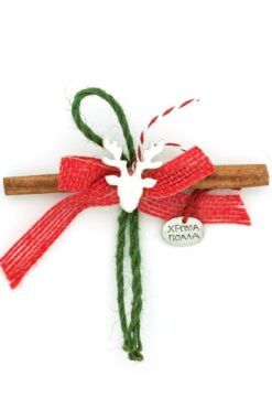 Christmas charm with cinnamon stick & reindeer