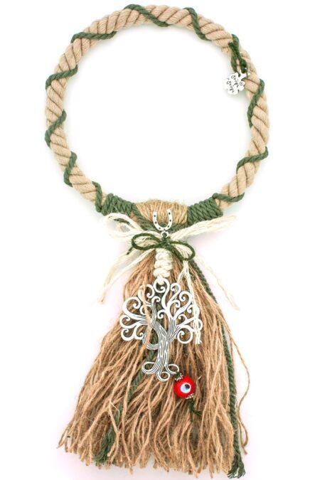 khaki decorative gift with tree