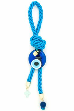 blue decorative summer charm with evil eye