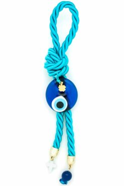 turquoise decorative summer charms with evil eye