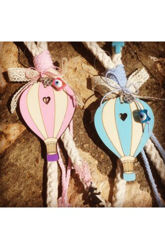 baby charms with hot air balloon