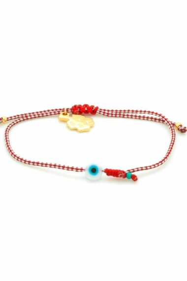 white evil eye March bracelet