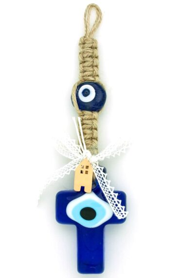 summer charm with cross and evil eyes