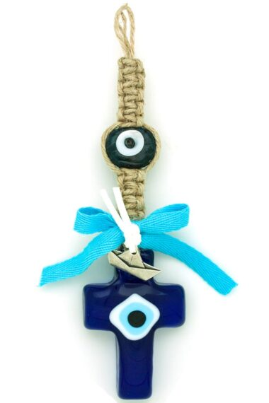 summer deco gift with cross and evil eyes