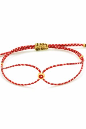 March bracelet with red evil eye