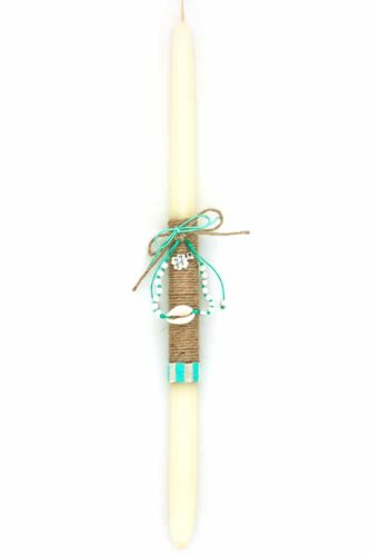 Easter candle with summer bracelet gift