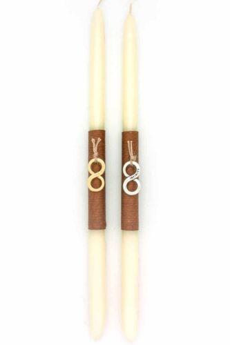 Easter candle with infinity symbol