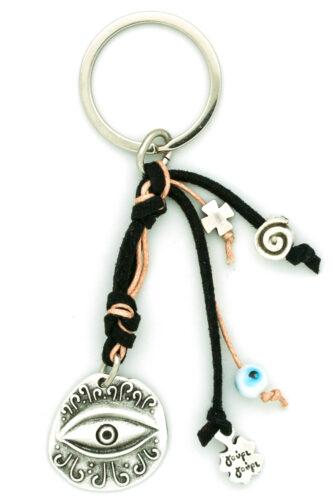 black evil eye keychain