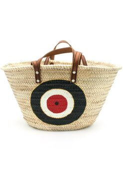 beach bag with black evil eye