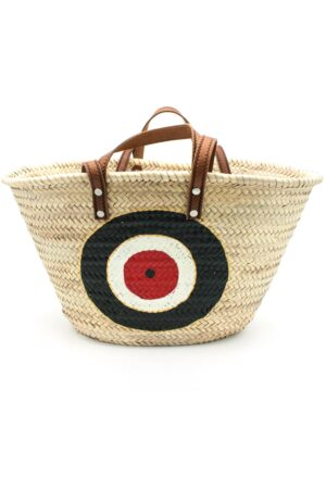 beach bag with black evil eye
