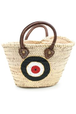 beach handbag with evil eye