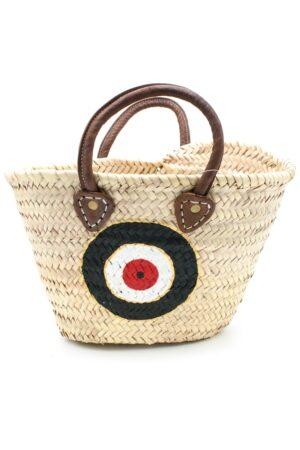 beach handbag with evil eye