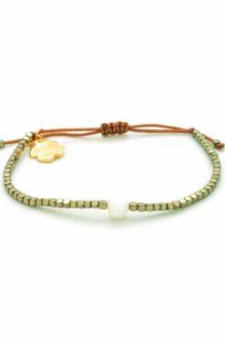 gloss metallic hematite bracelet