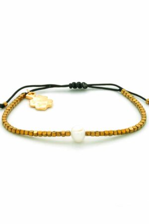 gloss golden hematite bracelet
