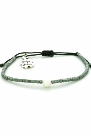 matte grey hematite bracelet