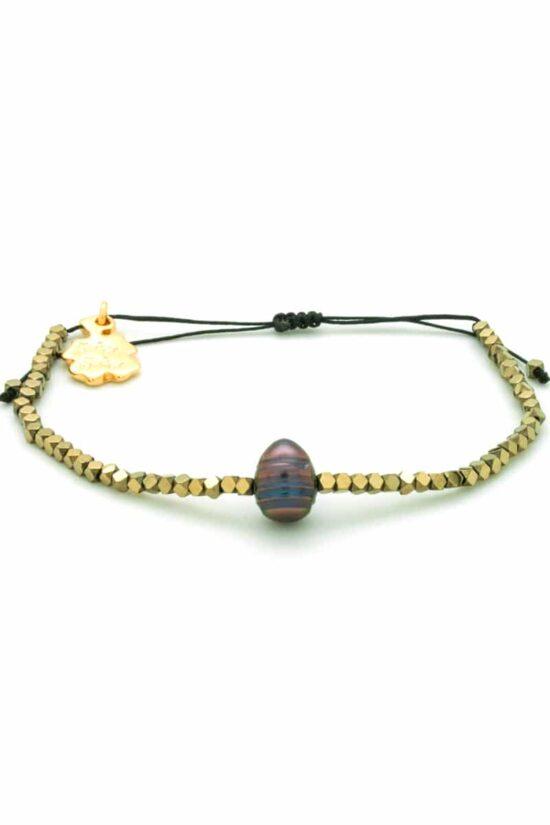 gloss golden hematite bracelet