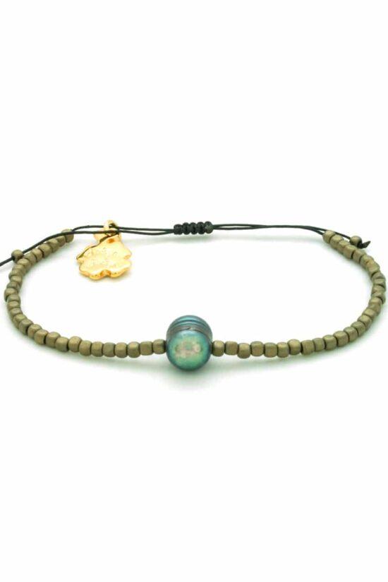 matte golden hematite bracelet