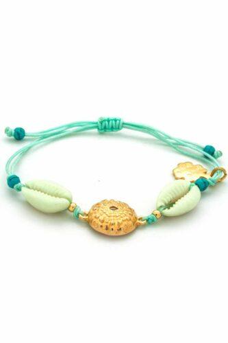 shell & sea urchin bracelet