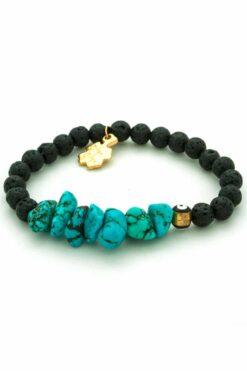 lava and chaolite stone bracelet