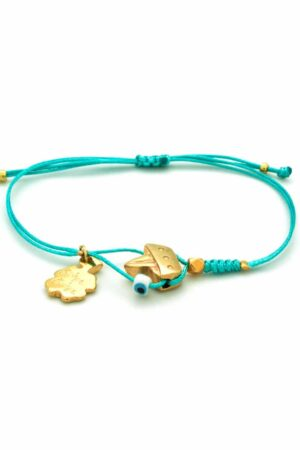 bracelet with small gold-plated boat