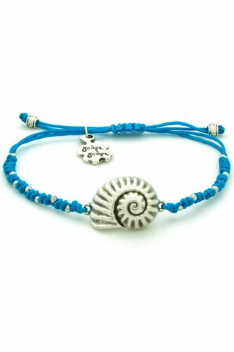 blue bracelet with shell