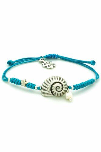 light blue bracelet with shell