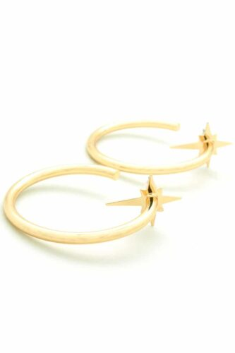 gold-plated rings with stars