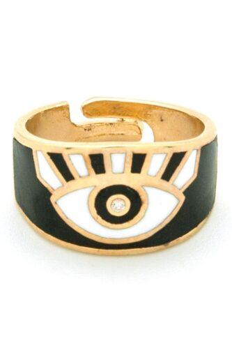 black evil eye ring